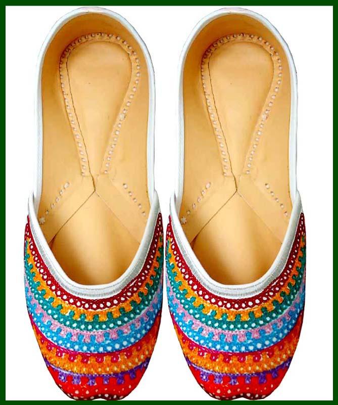 Women Beaded Shoe Indian Punjabi Juti