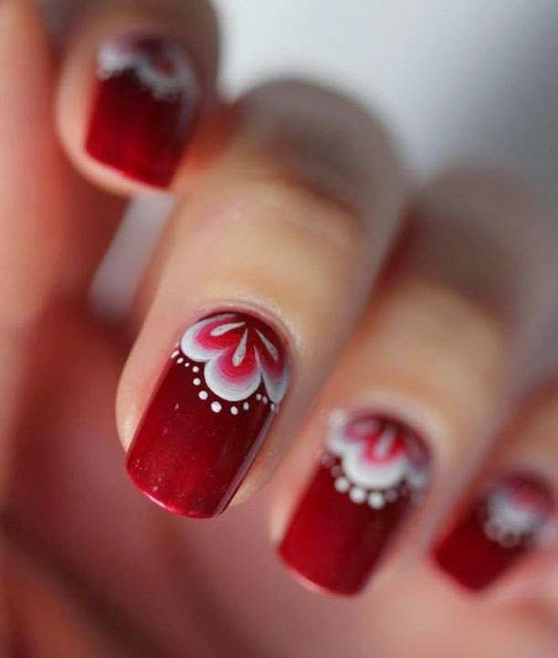 Red Nails Designs.