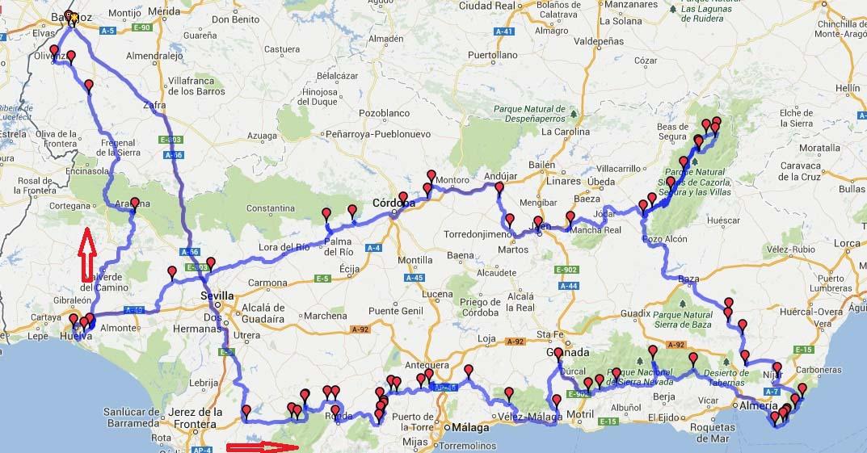 Extremadura en moto trans andalucia un viaje interior - Ruta por andalucia ...