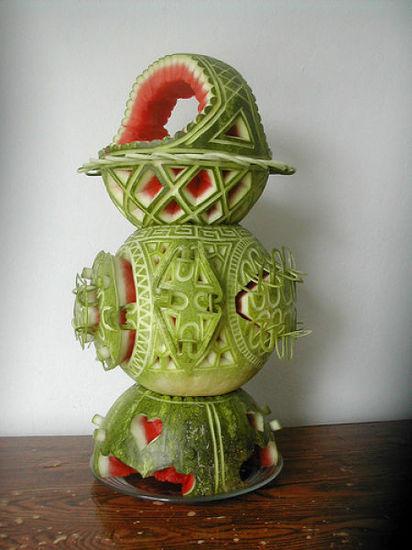 الرسم البطيخ