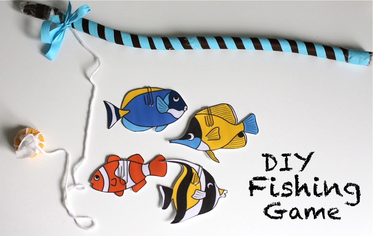 Mum in the making gone fishing our diy fishing game for Gone fishing game