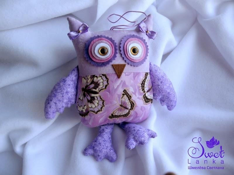 текстильная игрушка сова