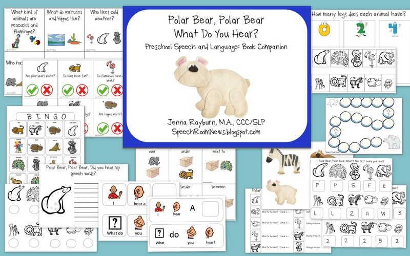 Speech Room News: Polar Bear, Polar Bear {Book Companion with Freebie}