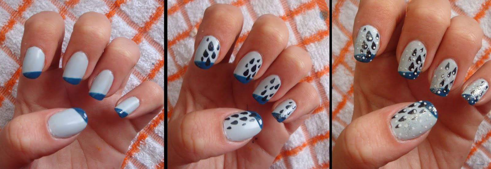 MI TIEMPO LIBRE: Decoración de uñas:lluvia