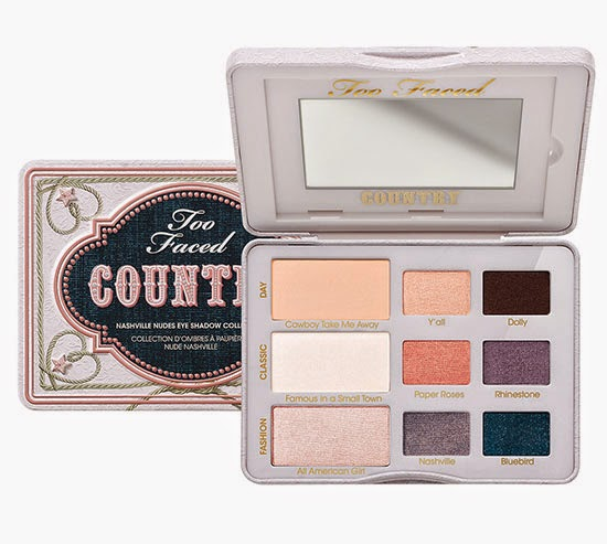 New Eyeshadow Palettes from Too Faced,  Rock n' Roll Rock Candy Eye Shadow Collection and the Country Nashville Nudes Eye Shadow Collection for $36 US, Ulta Exclusive