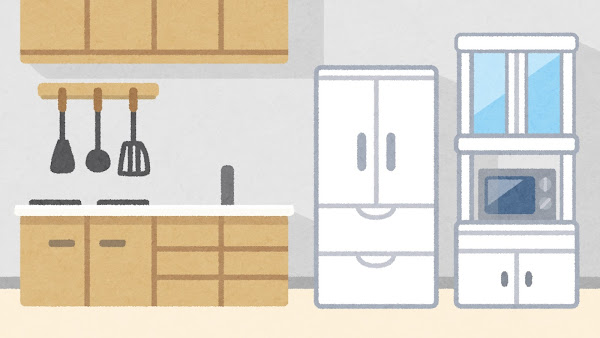 キッチンのイラスト(背景素材)
