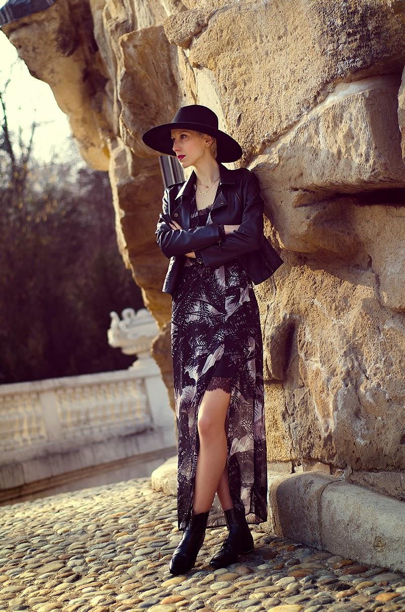 chiffon maxi dress h&m spring 2014 beeswonderland