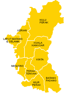 Districts of Perak