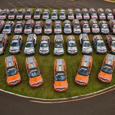Las Mitsubishi Montero y L200 Triton que acompañaran el Dakar 2013