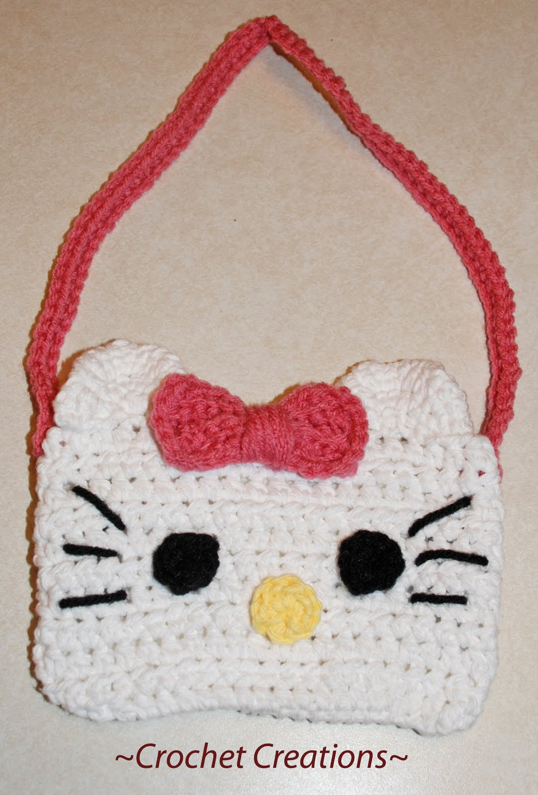 Free Crochet Patterns Hello Kitty Purse : Amys Crochet Creative Creations: Crochet Hello Kitty Purse