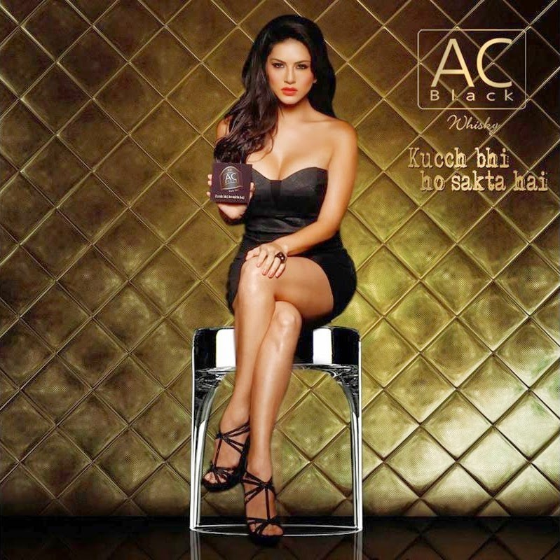 Sunny Leone in a AC Black Whisky Ad Photos