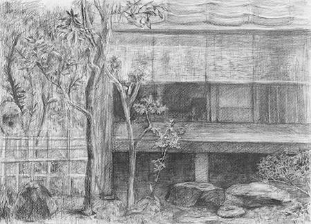 横浜美術学院の中学生向け教室 美術クラブ 言葉からイメージするデッサン『家』15