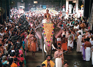 Procession at Guruvayur Temple