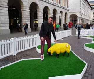 On the Lyle & Scott Woolly Golf course in London's Covent Garden
