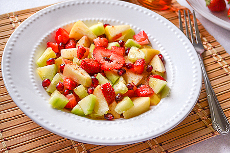Spicy Treats: Fruit Salad With Ginger Honey Dressing ~ Winter Special