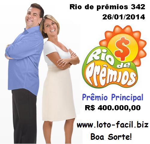 Rio de Prêmios 342 - sorteio resultado