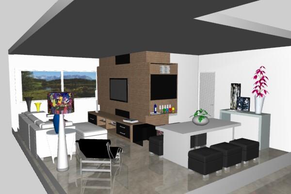 Oficina de arquitetura projetos de interiores for Interiores de salas