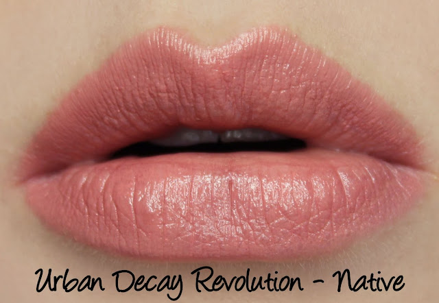 Urban Decay Revolution Lipstick - Native Swatches & Review