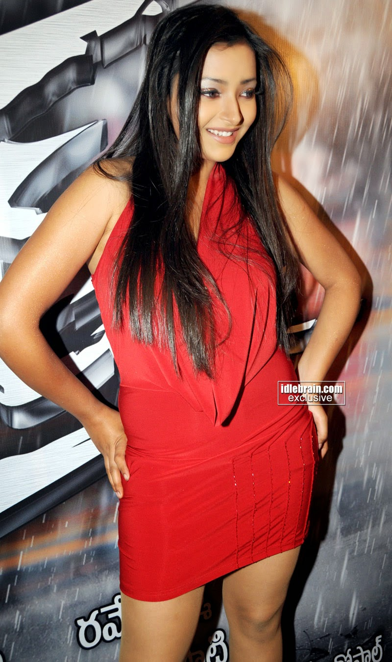 Curvy Babe Swetha Basu Prasad red skirt photos
