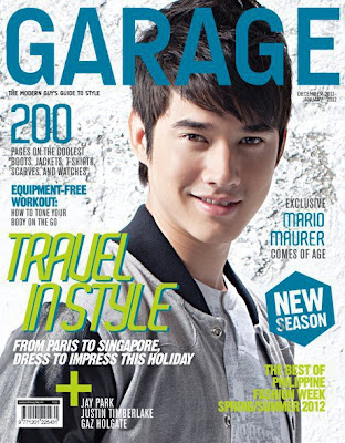 Mario Maurer Garage Magazine cover