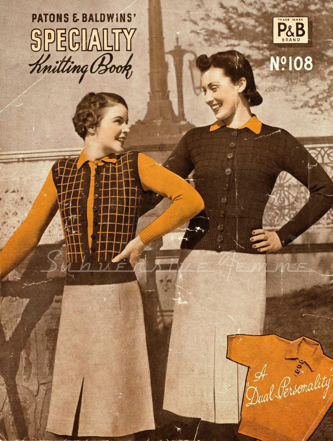 free knitting 1940's Knitting - Gertrude Women's Twin Set