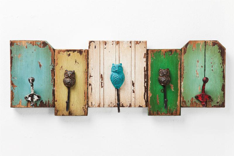 Como reciclar madera y utensilios al estilo diy quiero - Percheros de pared vintage ...