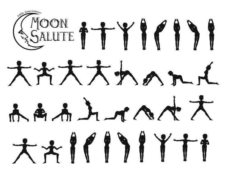 yoga saludo a la luna