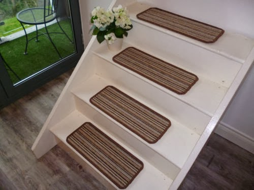 These Stair Carpet Pads Provide Increased Safety And Add To The Visual  Appeal Of Indoor Stairs. This Set Is Made Of Loop Style Carpet With A Felt  Backing.