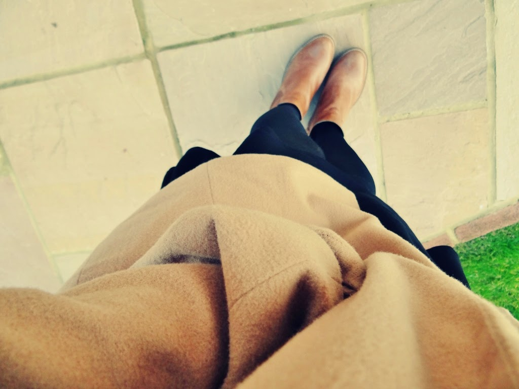 camel coat missguided