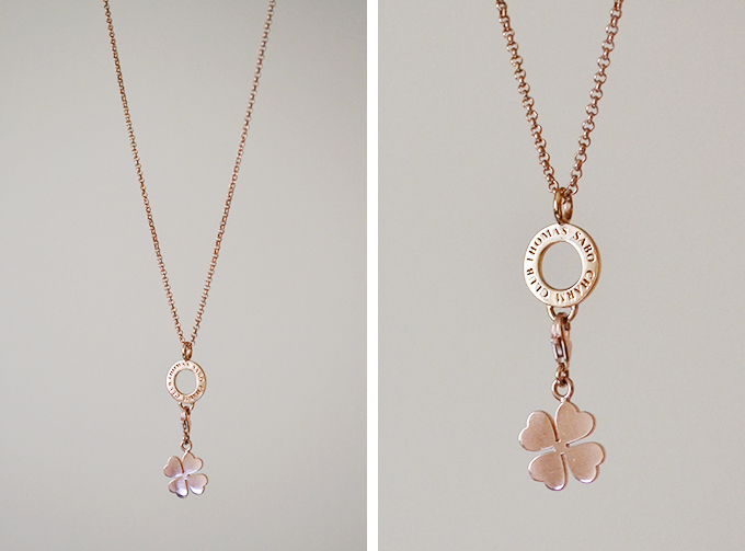 Thomas Sabo rose gold charm necklace