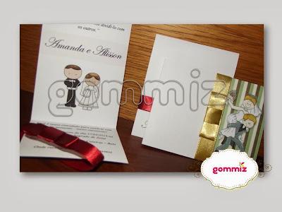 convite personalizado artesanal casamento noivado aniversário