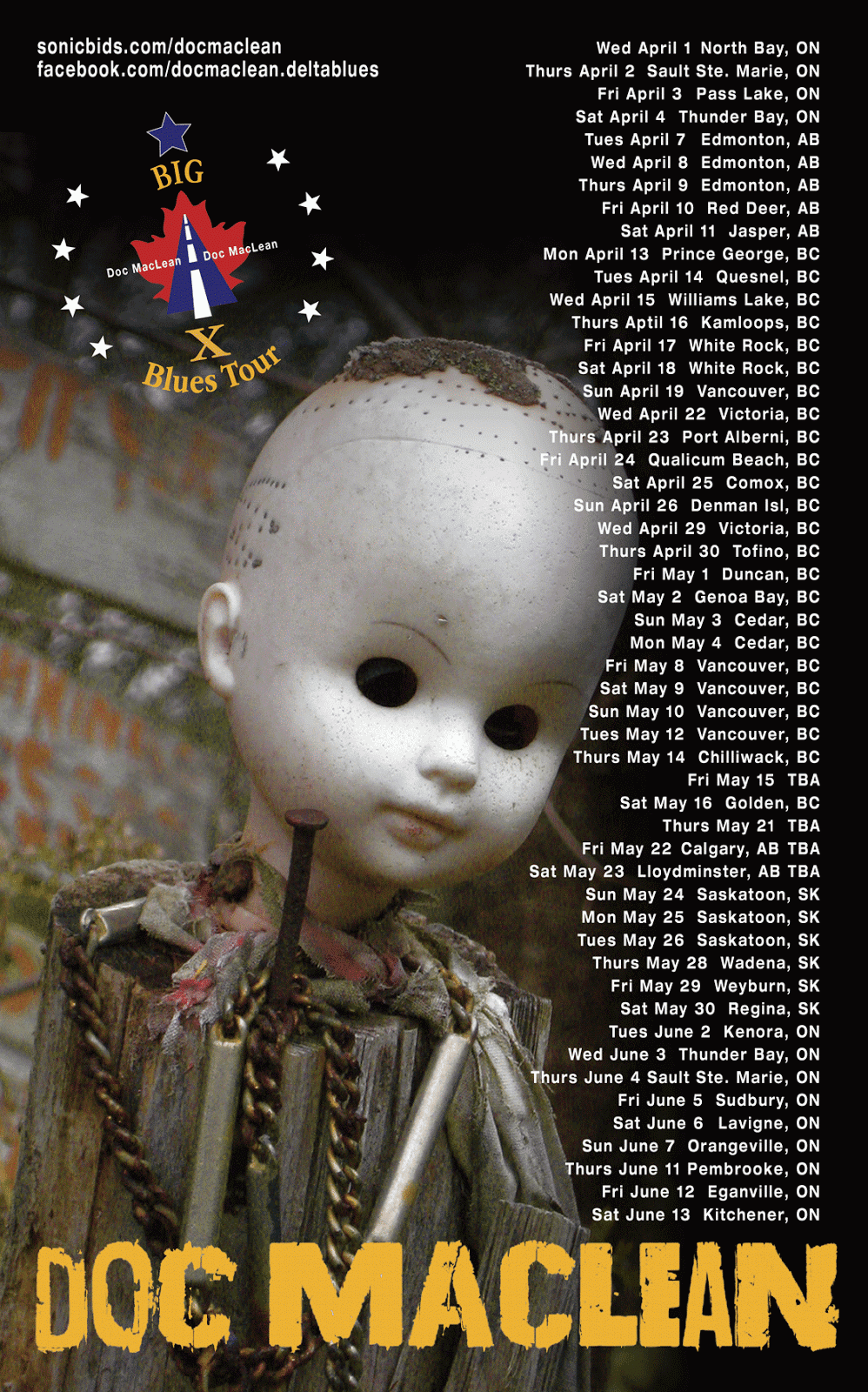 Tour Poster voodoo dates