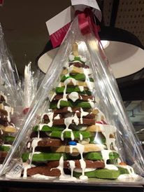 Christmas cookies tree at Da Paolo Gastronomia Paragon
