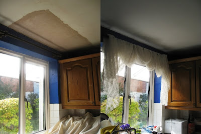 Kitchen ceiling before and after