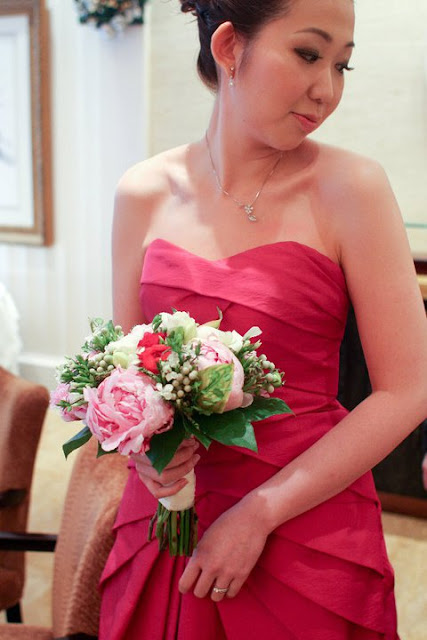 Peony bridal bouquet by Lily Sarah