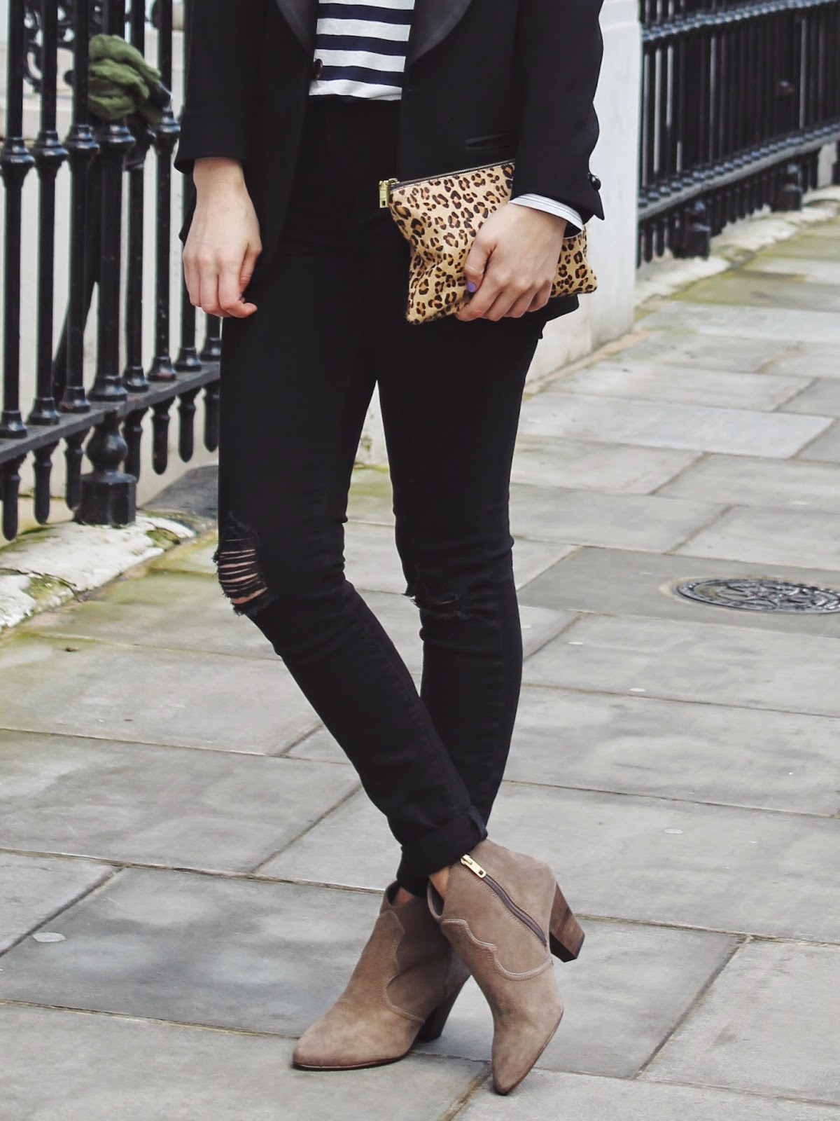 london blogger, leopard print clutch, j crew clutch