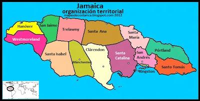 Jamaica, organización territorial