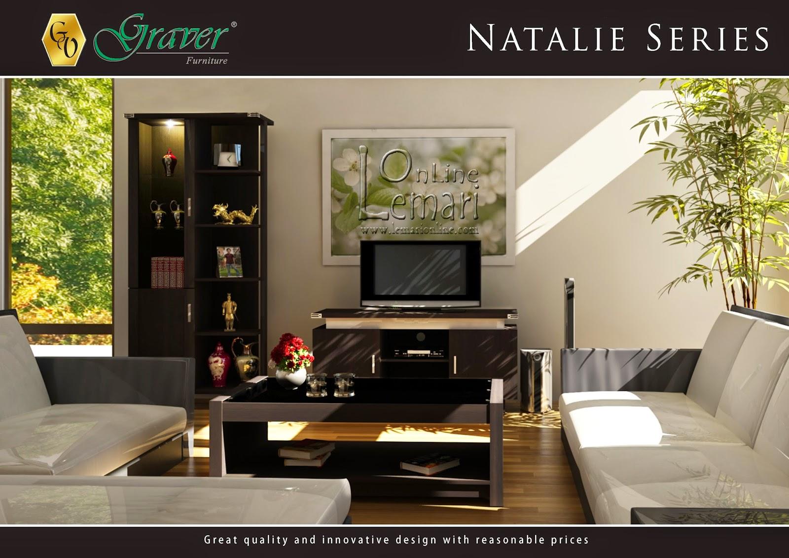 Ruangan akan terasa nyaman dengan sentuhan natural dari Natalie Series