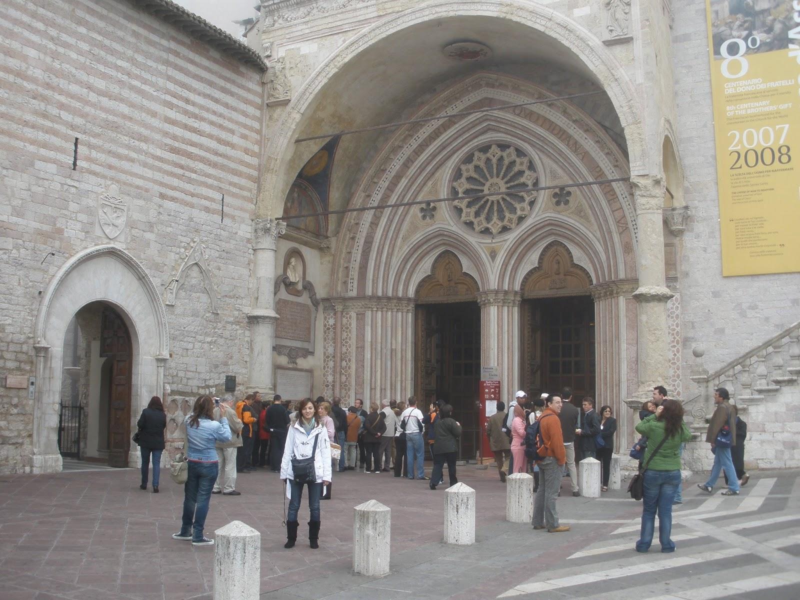 Asís, ciudad dónde nació San Francisco, fundador de los Franciscanos.