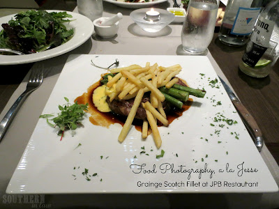 JPB Restaurant Review Swissotel Sydney - Grainge Scotch Fillet with Bernaise, Fries and Asparagus