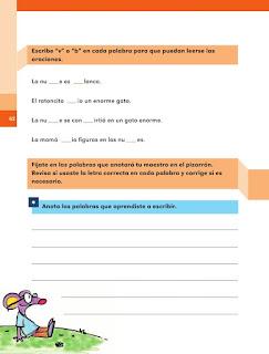 Apoyo Primaria Español 1er grado Bimestre 2 lección 10 Para leer y escribir mejor