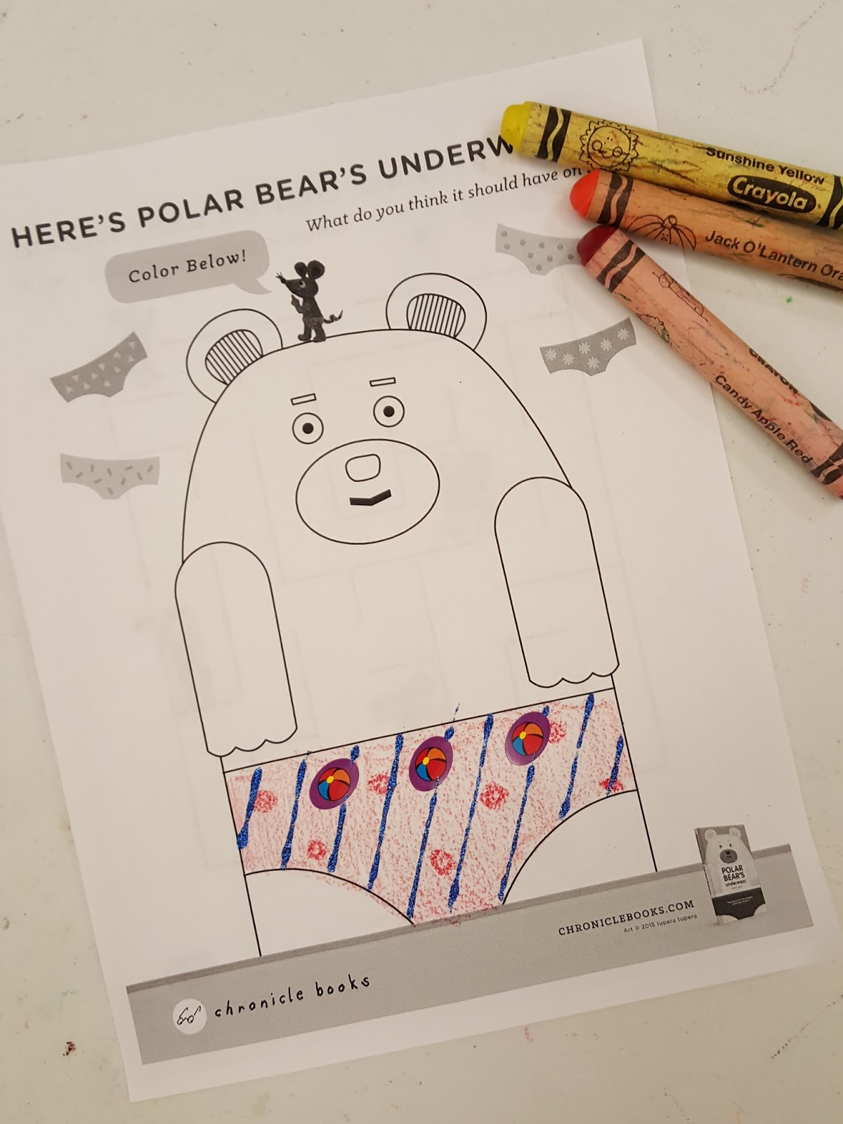 From Polar Bears Publisher I Found Some Activity Sheets To Use For Our Craft Had The Kids Design Their Own Unique Pair Of Underwear Bear With