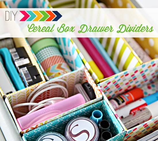 http://iheartorganizing.blogspot.com.br/2013/01/diy-cereal-box-drawer-dividers.html