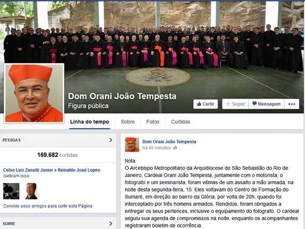 Se arcebispo do Rio for assaltado até setembro vai poder pedir música no Fantástico