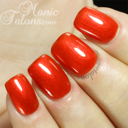 Pink Gellac Halloween Orange Swatch