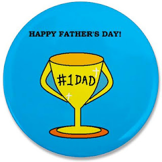 Happy Father's Day No 1 Dad Trophy Button