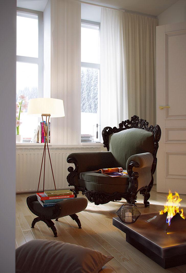 40 esempi di rendering interni da cui trarre ispirazione for Esempi di arredamento interni