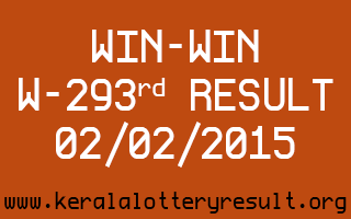 WIN-WIN Lottery W-293 Result 02-02-2015