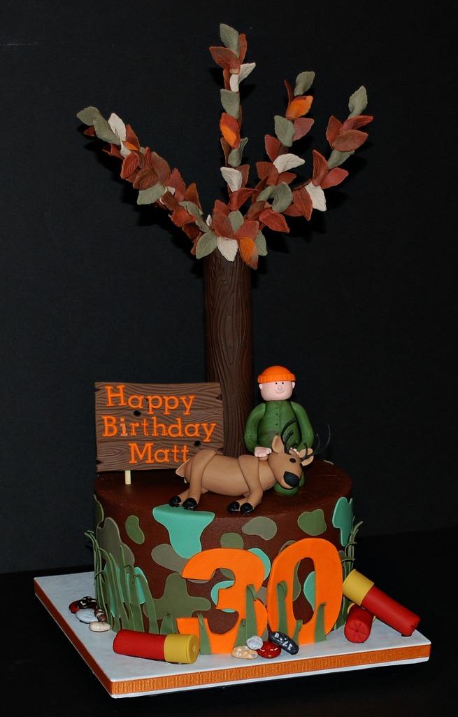 The Bakery Next Door Deer Hunter Birthday Cake