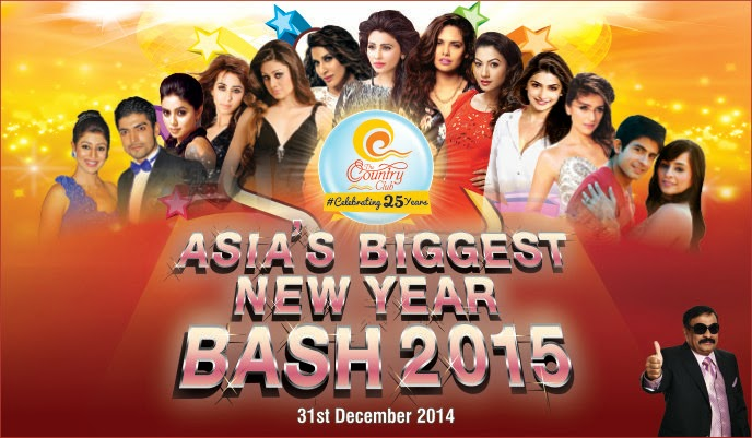 Asia Biggest New Year Bash 2015 at Country Club Vacation